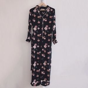 Urban outfitters Floral Button Satin Jumpsuit